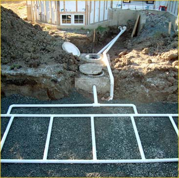Note The Drainage Pipe From Property To Septic Tank And